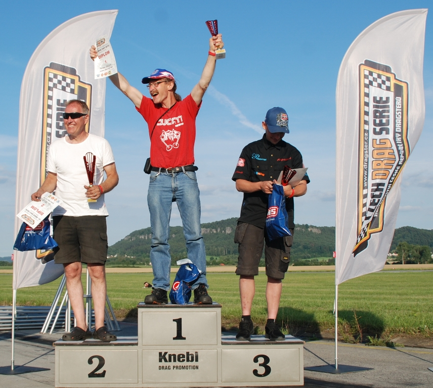 16 july Hoskovice Czech Republic, Euro Serie Super TwinTop Gas, left 2nd Janne Malmberg Se,  Midlle  1st Herman Jolink NL,  right 3th Frederik Schack DK