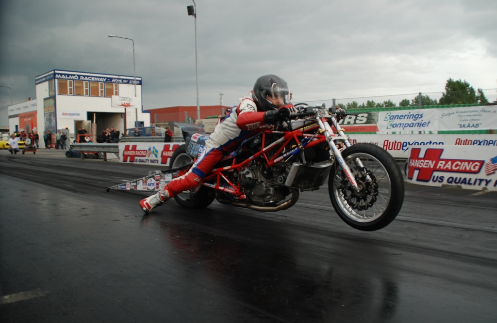 26-28 june 2015, Top Gas Malmo Sweden, 1st Place fore Herman Jolink on the Ducati 1198 RS Drag Bike, final tiem on the 1/8 Mile  (201 m) 5.301 seconds with 209 kmh
