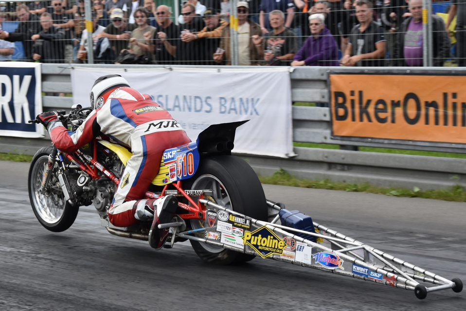 1-2 sep 2017 Mosten Race Days Allingaboro Denmark, 3th Place for Herman Jolink on the Ducati 1198 RS (1266) Drag Bike, European Super Twin Tin Gas Championship 2017, 5th Place for Herman Jolink, Czech Championship Competition Dragster 2nd Place for Herman Jolink