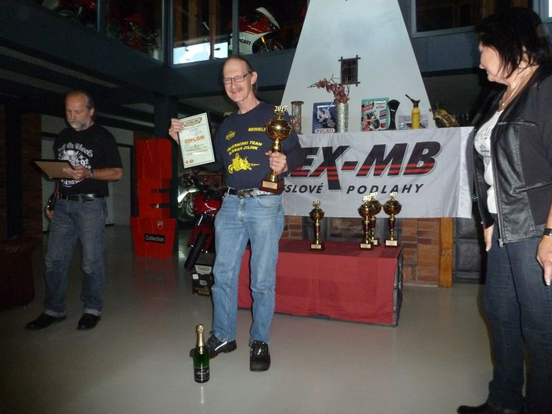 14 october 2017 Mlada Boleslav Czech Republic, 2nd Palce for Herman Jolink in the Competion Dragster on the Ducati 1198 RS Drag Bike