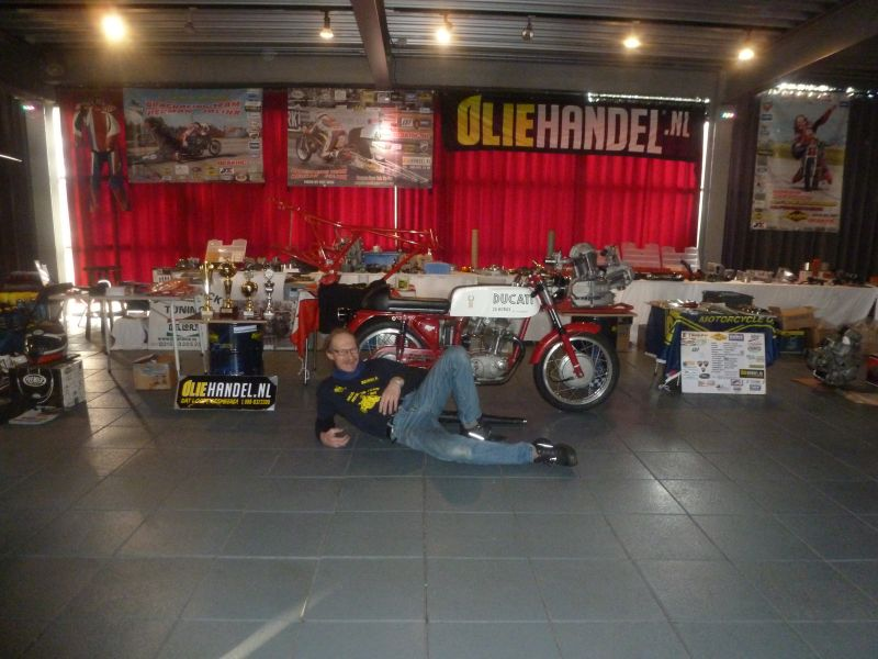 13-14 january 2018 Oldtimer Motorcycle Exhebiton Herman Jolink for the stand from the Dragracing Team Herman Jolink