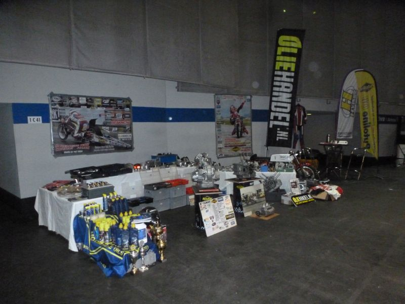 2-3-4 february 2018 Classicmotorshow Bremen Germany the Stand from the Dragracing Team Herman Jolink