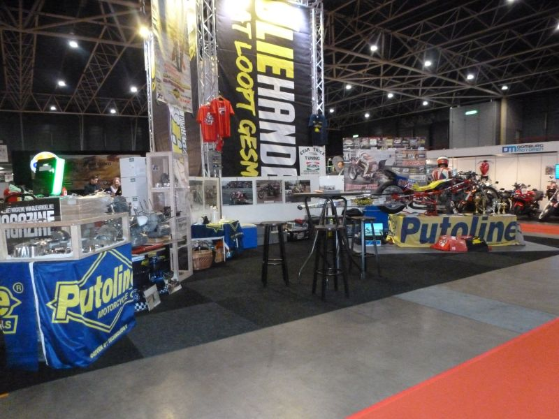 22-25 february 2018 The Dragracing Team Herman Jolink Exposure for the 26th time at the Motorbeurs at Utrecht Netherlands right the Ducati 1198 RS Drag Bike left Ducati Bevel parts