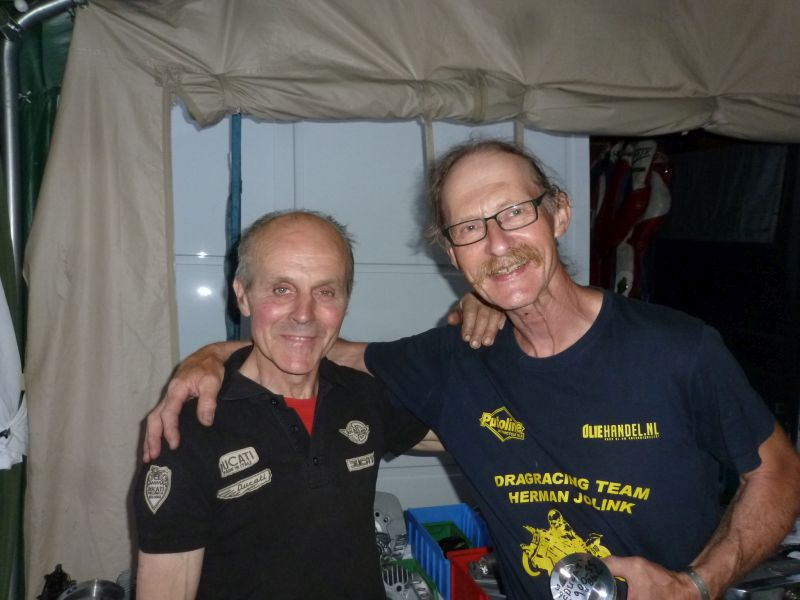 29 june 1 july 2018 Bikers Classic Francorchamps Belgium left Roger Kockelmann right Herman Jolink